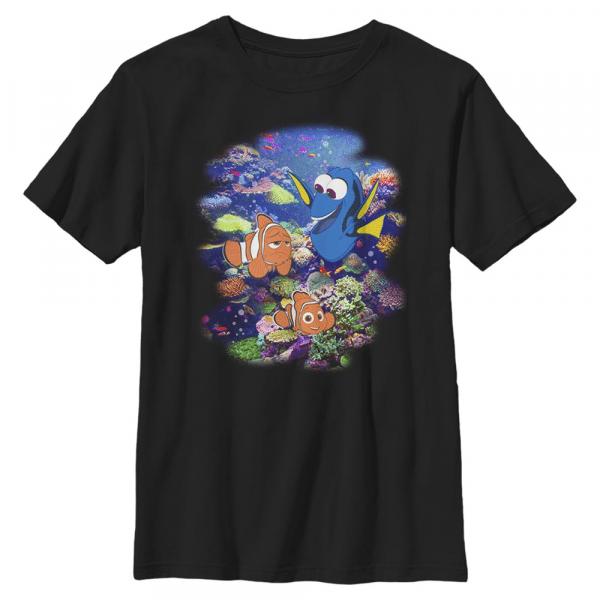 Reef Dory Nemo - Pixar Finding Dory - Kids T-Shirt - Black - Front