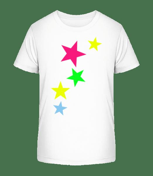 Colorful Stars - Kid's Premium Bio T-Shirt - White - Vorn