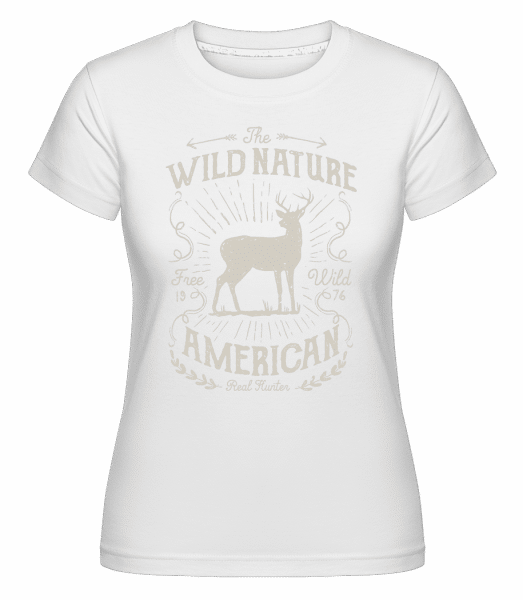 Wild Nature -  Shirtinator Women's T-Shirt - White - Vorn
