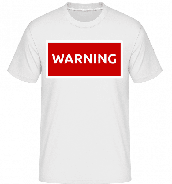 Warning Sign Red -  Shirtinator Men's T-Shirt - White - Vorn