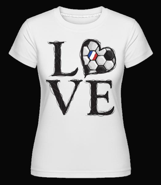 Football Love France -  Shirtinator tričko pre dámy - Biela - Predné