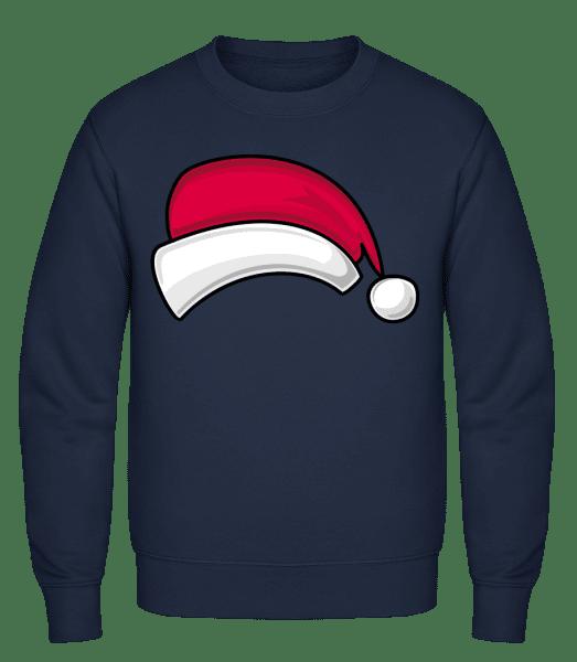 Weihnachtsmütze - Männer Pullover - Marine - Vorn