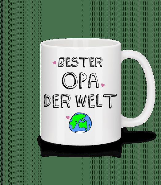 Bester Opa Der Welt - Tasse - Weiß - Vorn