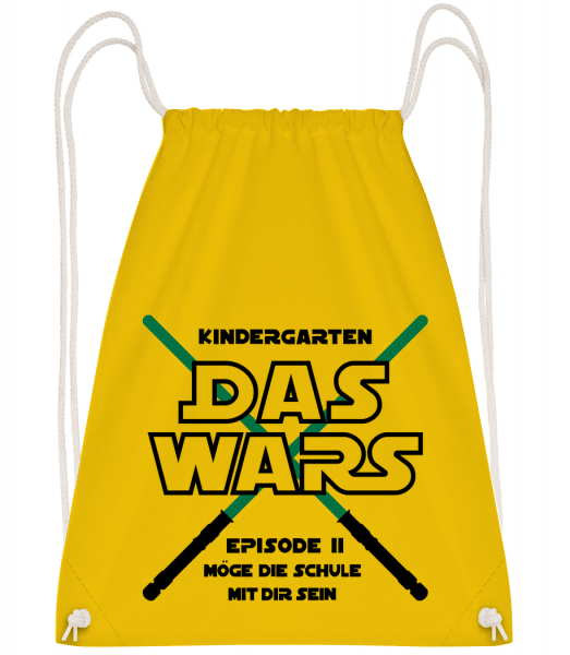 Kindergarten - Das Wars - Turnbeutel - Gelb - Vorn