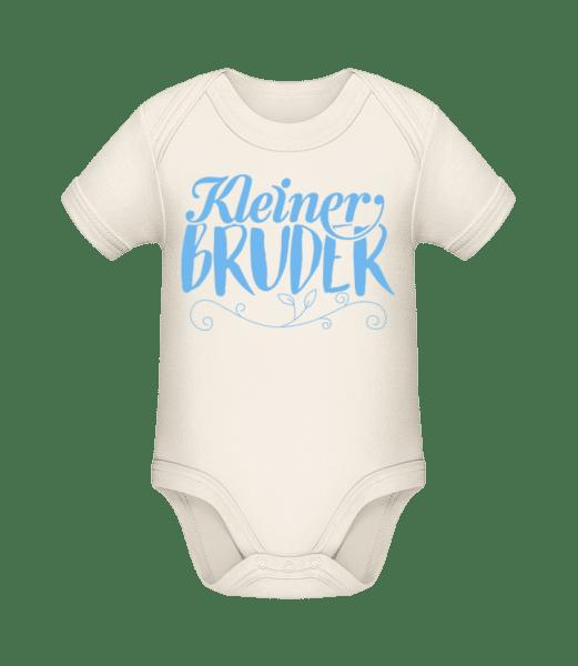 Kleiner Bruder - Baby Bio Strampler - Creme - Vorn