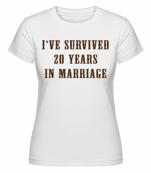 I've Survived 20 Years In Marriage -  Shirtinator Women's T-Shirt - White - Vorn