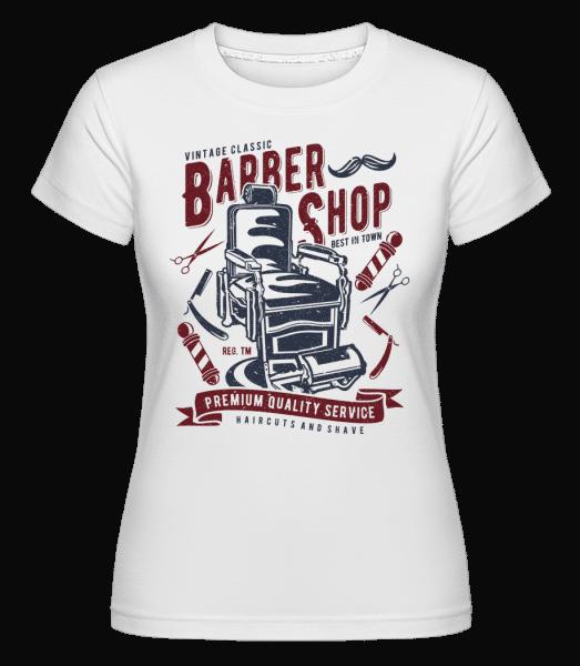 Vintage Barber Shop -  Shirtinator Women's T-Shirt - White - Vorn