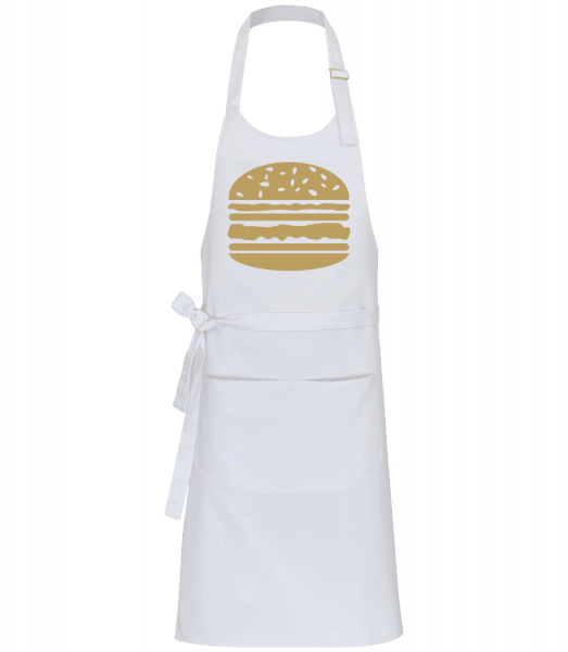 Served Burger - Professional Apron - White - Front