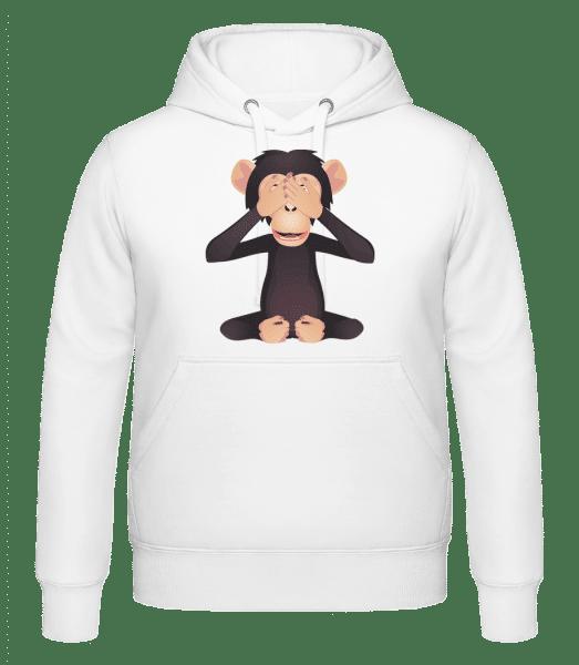 Blind Monkey - Hoodie - White - Vorn