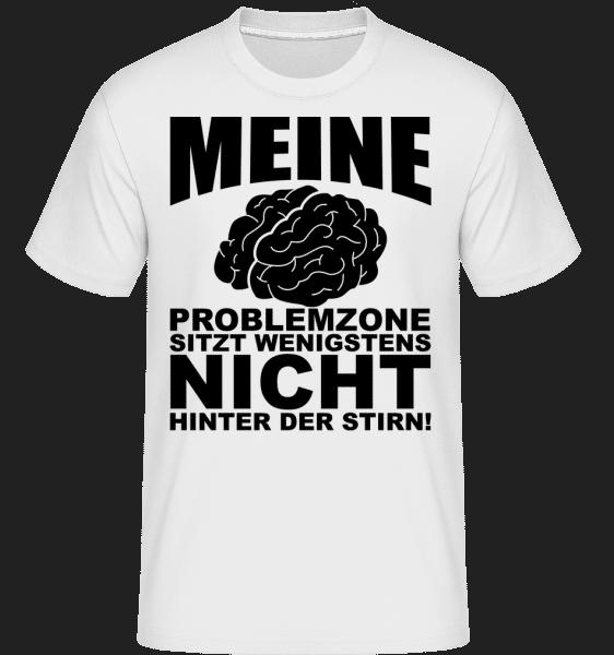 Problemzone Gehirn - Shirtinator Männer T-Shirt - Weiß - Vorn