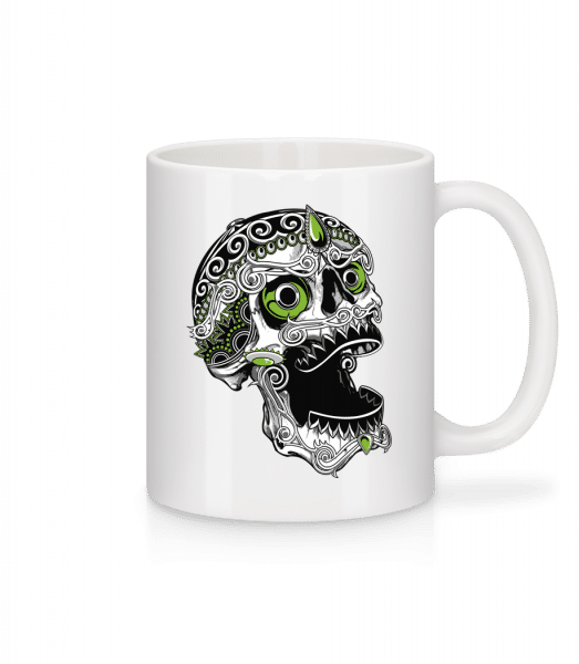 Cool Skull - Mug - White - Vorn
