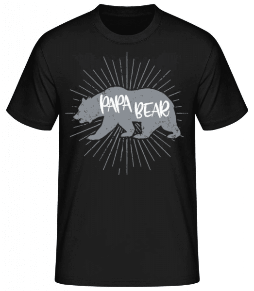Papa Bear - Men's Basic T-Shirt - Black - Front