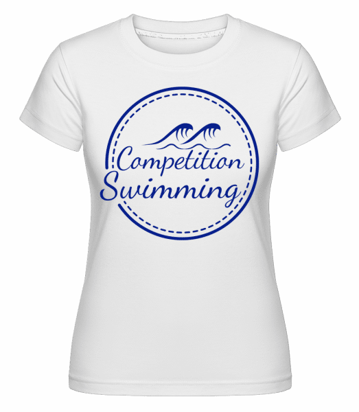 Competition Swimming -  Shirtinator Women's T-Shirt - White - Front