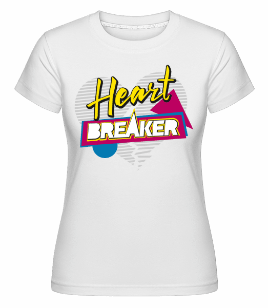 Heart Breaker - Shirtinator Frauen T-Shirt - Weiß - Vorn