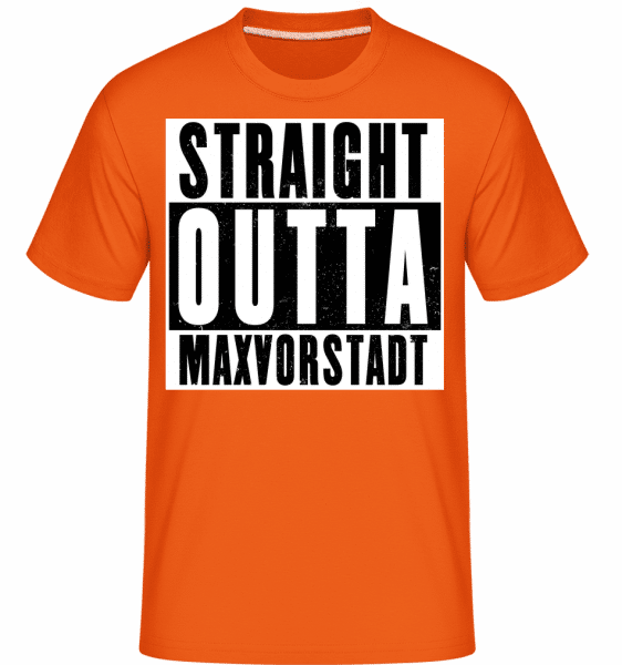 Straight Outta Maxvorstadt - Shirtinator Männer T-Shirt - Orange - Vorn