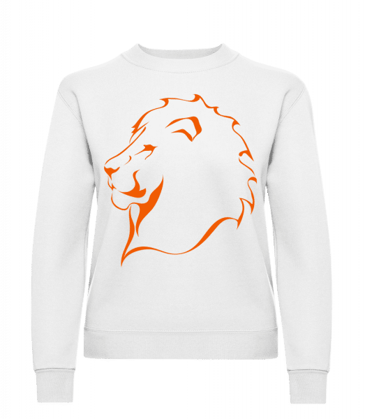 Lion - Classic Ladies' Set-In Sweatshirt - White - Vorn