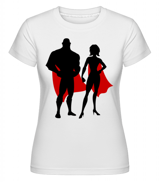 Superheroes With Cape -  T-shirt Shirtinator femme - Blanc - Vorn