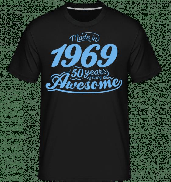 Vyrobený v roce 1969 50 let Děsivý -  Shirtinator tričko pro pány - Černá - Napřed