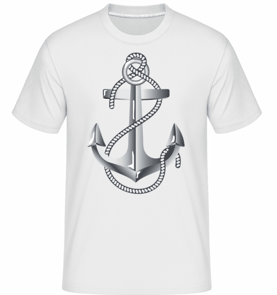 Anchor Rope Comic Silver -  Shirtinator Men's T-Shirt - White - Vorn