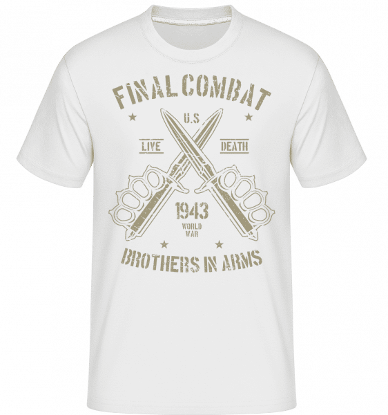 Final Combat -  Shirtinator Men's T-Shirt - White - Front