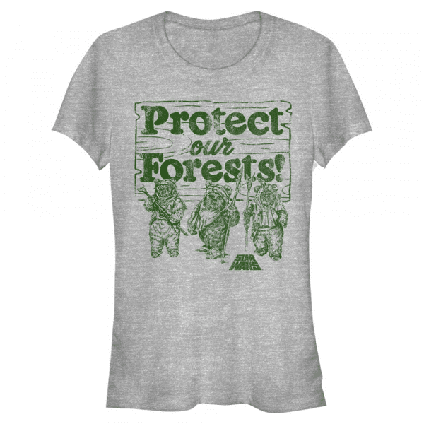 Protect Our Forest Ewok - Star Wars - Women's T-Shirt - Heather grey - Front