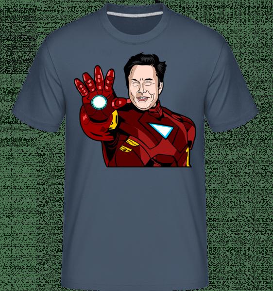 Elon Musk Iron Man -  Shirtinator Men's T-Shirt - Denim - Vorn