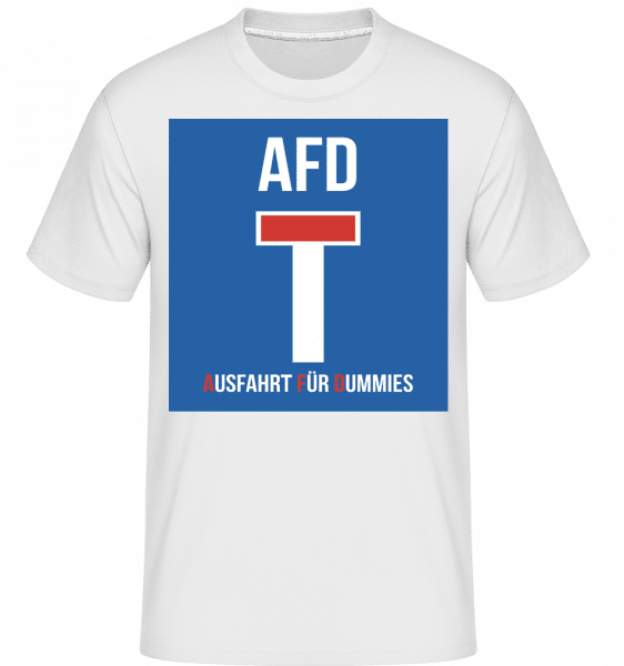 AFD Sackgasse - Shirtinator Männer T-Shirt - Weiß - Vorn