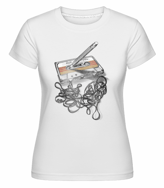 Old School Cassette -  Shirtinator Women's T-Shirt - White - Vorn