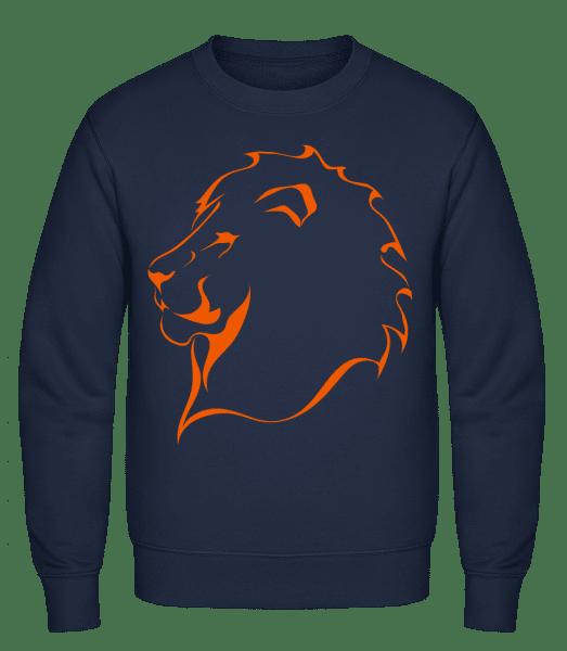Lion - Klasická mikina sg - Namořnická modrá - Napřed