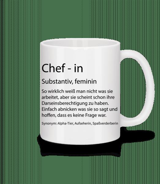 Chefin Quatsch Duden - Tasse - Weiß - Vorn