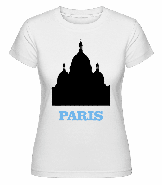 Paris Skyline -  Shirtinator Women's T-Shirt - White - Vorn