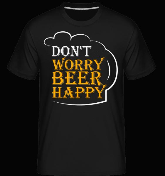 pivo Šťastný -  Shirtinator tričko pre pánov - Čierna - Predné