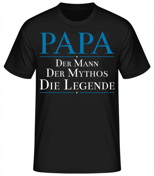 Papa Die Legende - Männer Basic T-Shirt - Schwarz - Vorn