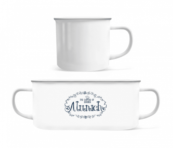 Munich Germany - Enamel-cup - White - Front