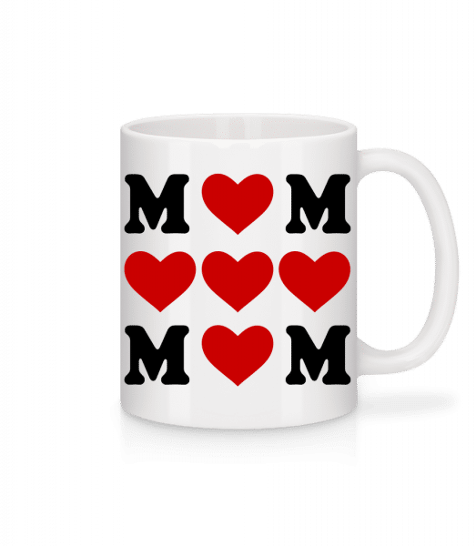 Love Mom Hearts - Mug - White - Vorn