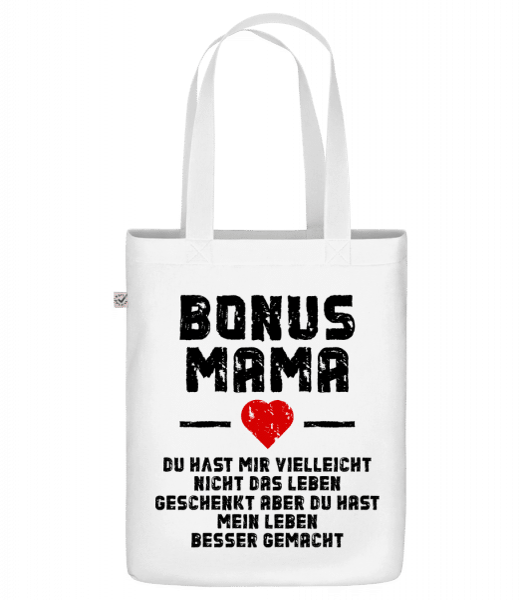 Bonus Mama - Bio Tasche - Weiß - Vorn