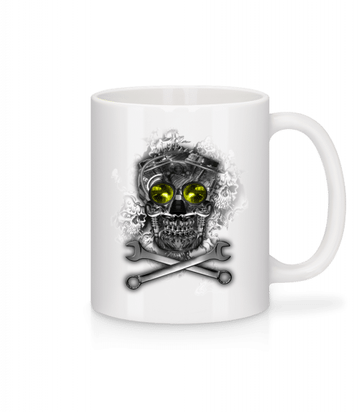 Machine Skull - Mug - White - Vorn