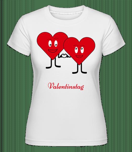 Valentinstag - Shirtinator Frauen T-Shirt - Weiß - Vorn