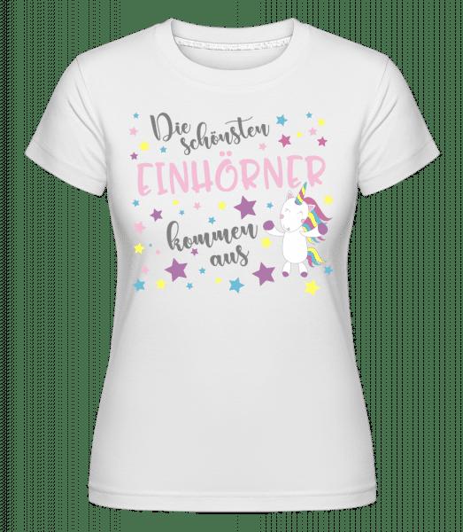 Die Schönsten Einhörner - Shirtinator Frauen T-Shirt - Weiß - Vorn
