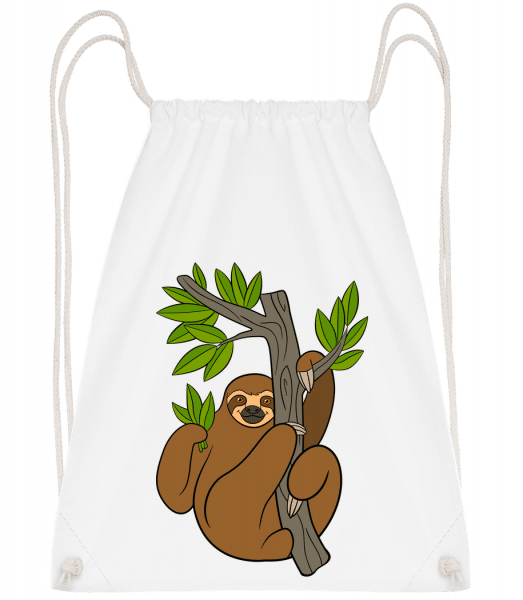 Sloth On The Tree - Gym bag - White - Vorn