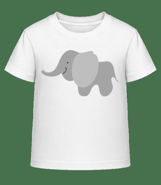 Kids Comic - Elephant - Kid's Shirtinator T-Shirt - White - Front