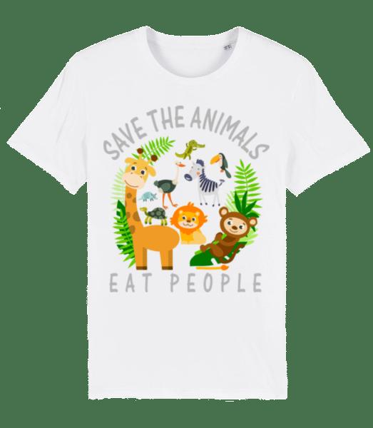 Save The Animals - Men's Premium Organic T-Shirt Stanley Stella - White - Vorn