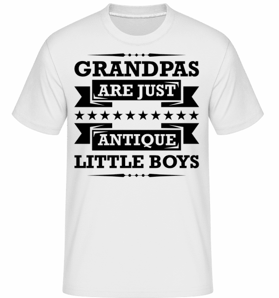 Grandpas Antique -  T-Shirt Shirtinator homme - Blanc - Devant