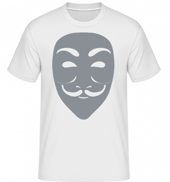 Masque Icon Grey -  T-Shirt Shirtinator homme - Blanc - Devant