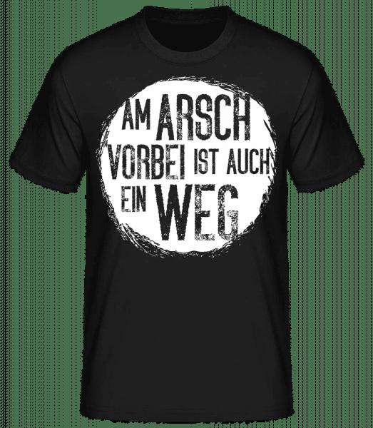 Am Arsch Vorbei - Männer Basic T-Shirt  - Schwarz - Vorn