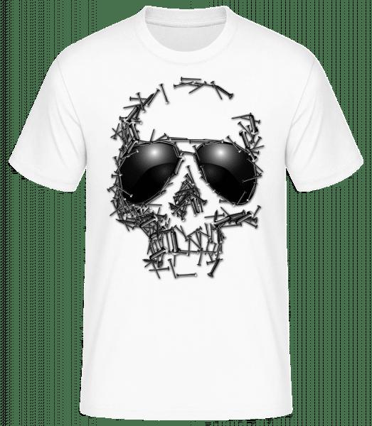 Skull Of Nails - Men's Basic T-Shirt - White - Front