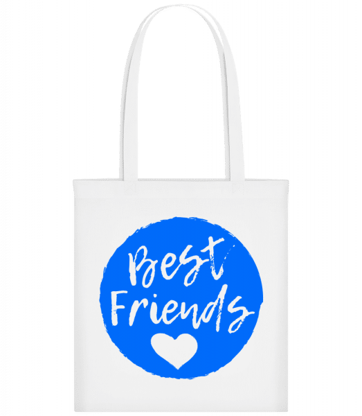 Best Friends Love - Carrier Bag - White - Vorn