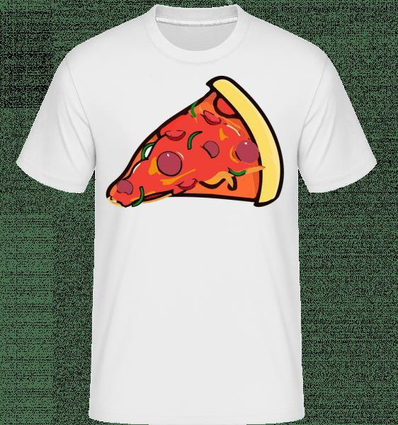 Kousek pizzy -  Shirtinator tričko pro pány - Bílá - Napřed