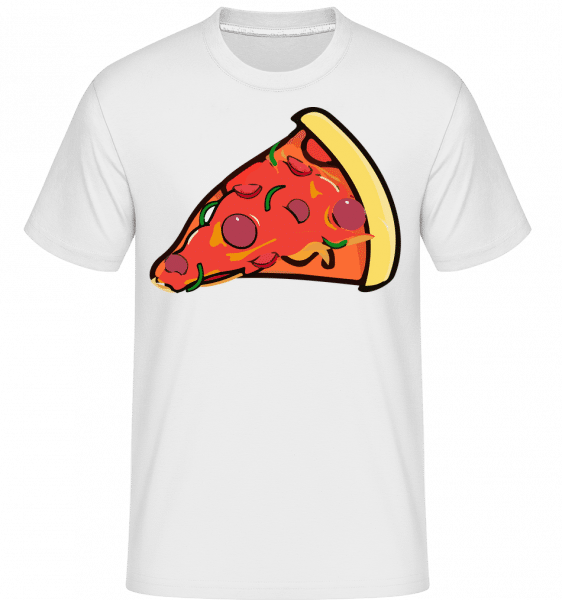 Pizza Slice -  T-Shirt Shirtinator homme - Blanc - Vorn