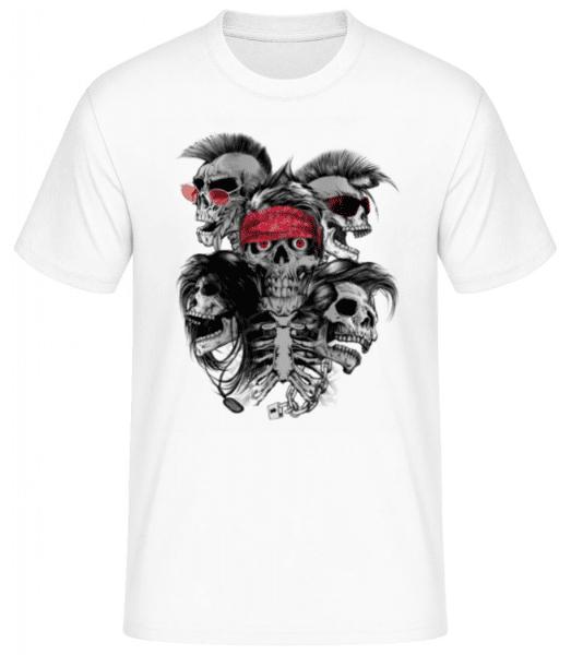 Crazy Skulls - Men's Basic T-Shirt - White - Front